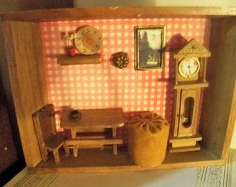 homemade wooden art kitchen display scene