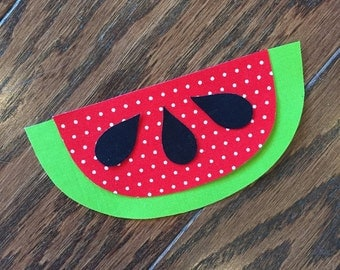 Watermelon Iron On Applique, You Choose Fabric