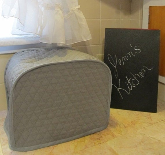 gray quilted 2 slice toaster cover. Black Bedroom Furniture Sets. Home Design Ideas