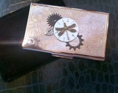 Steampunk Business Card Holder, DRAGONFLY MOON TIME, LauriJon™ Studio City