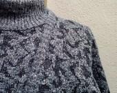 Chubby Checker...vtg80's Diane Von Furstenberg 3 Piece Metallic Knit Tunic Sweater, Top and Legging set...sz M-L