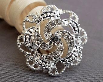 Rhinestone Button Crystal Button Wholesale Button Bridal Brooch Bouquet Napkin Ring Jewelry Wedding Invitation Supplies BT604
