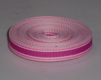 Berrysicle Stripe 3/8 inch Grosgrain Ribbon 10 yards