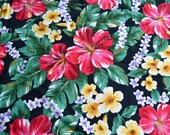 Vintage Fabric - Tropical Hawaiian Barkcloth - Trans Pacific Textiles - By the Yard