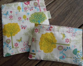 Reusable sandwich and snack bag of your choice - Flo's garden with several matching options for the snack bag