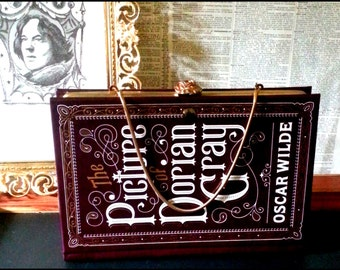Literary Book Clutch The Picture of Dorian Gray by Oscar Wilde Gothic Book Purse