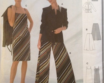 Uncut Burda International 8458 Jacket, Pants and Dress