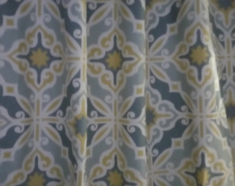 "Fabric shower curtain or matching valance Premier cotton , 72"" 84"" , 90"" , 96""' 108"" HARFORD SAFFRON"