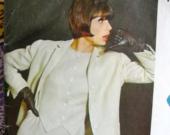 Jacques Griffe * UNCUT * VOGUE Paris Original  Pattern 1360 - ELEGANT Ladies' Evening Dress and Jacket   - Bust 34
