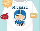 Football Player Shirt, Personalized Football Player Shirt, or Onesie with childs name (06172015f)