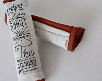Hand Typography Seat Belt Cover