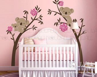 Australia Koala Bear Wall decal - Tree Branch, Girls ,Nersery ,Animal Wall Decals Wall Sticker