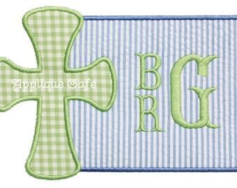 738 Cross Patch 2 Machine Embroidery Applique Design
