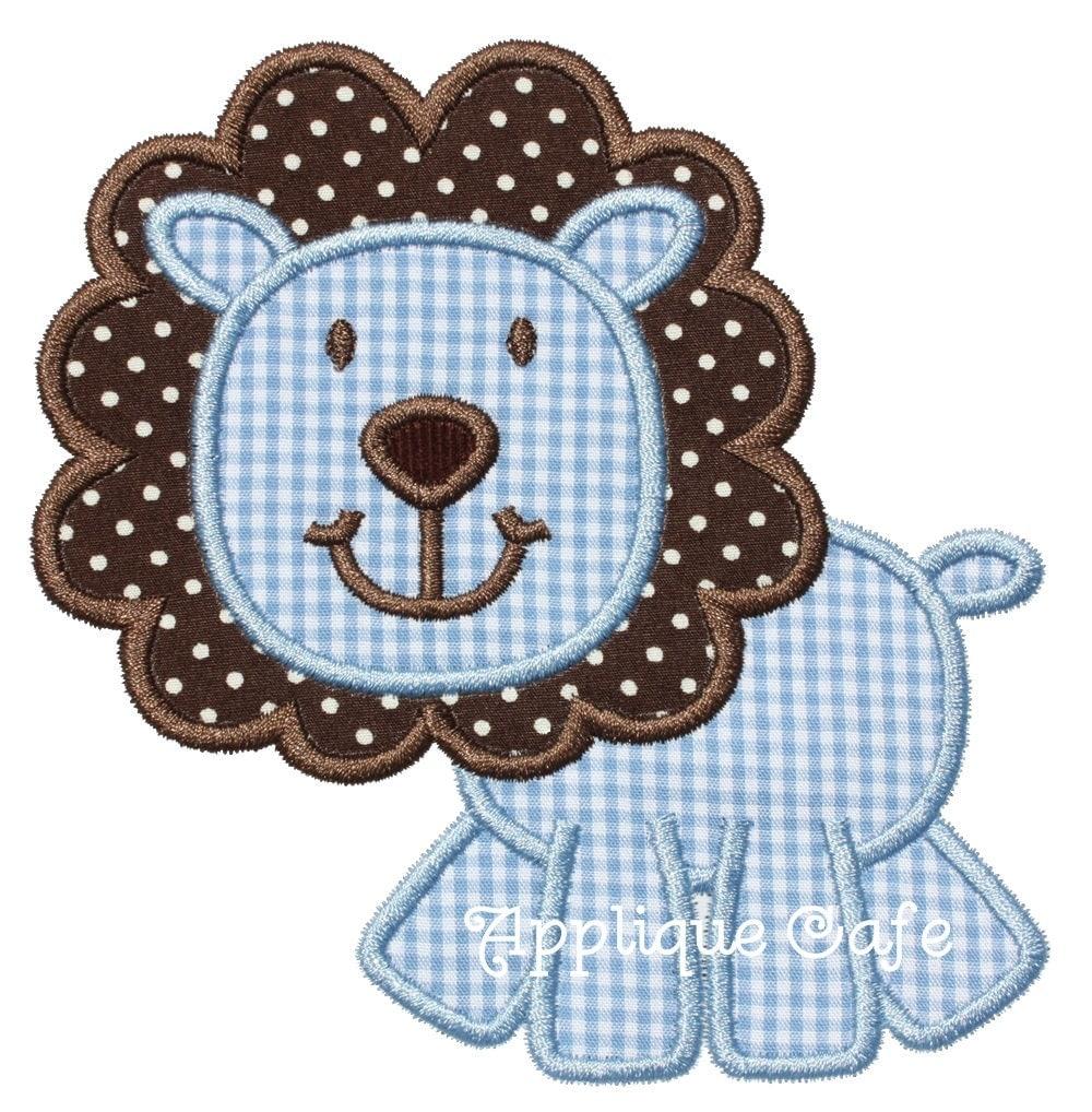 692 lion 2 machine embroidery applique design for Appliques design