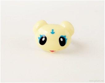 Fairy Kei Adjustable Ring, Mepple, Pastel Yellow, Magical Girl, Anime, Sweet Lolita
