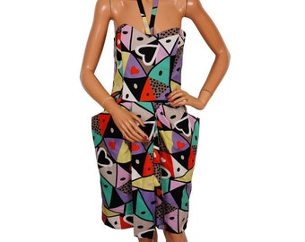 Vintage 1980s Louis Feraud Dress - Geometric Print -  S