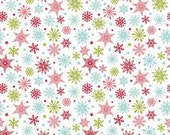 STORE CLOSING SALE Riley Blake Designs Merry Matryoshka- snowflakes multi, 1 yard