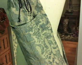 Seafoam Blue Tapestry Yoga Mat Bag.