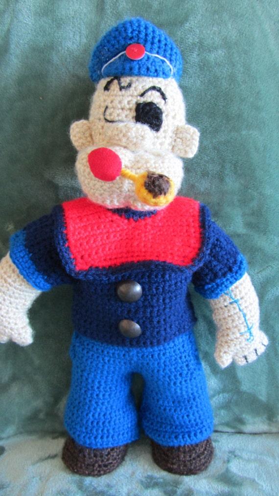 Crochet Pattern Popeye Doll : Popeye Doll Crochet Pattern PDF Instant Download from ...