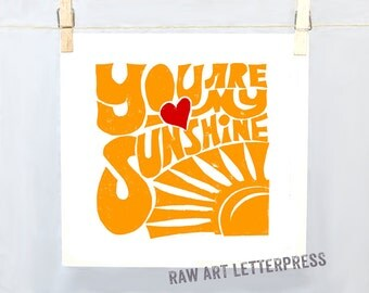 You are My Sunshine, Sunshine Art, Sunshine Print, Sunshine illustration, Nursery Art, Get Well Gift, Co worker gift, Gift for kid, Mom