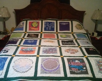 Custom T-shirt quilt from your T-shirts