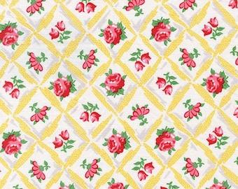 Michael Miller Retro Inspired Cotton Fabric CX6853SUNN  Florals in Diamonds