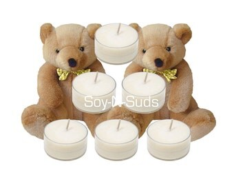 BABY POWDER Scented Soy Tea Lights