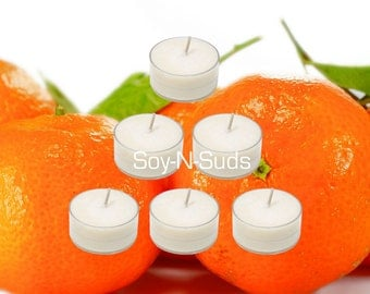 CLEMENTINE Soy Tea Light Candles
