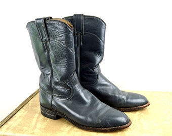 Gray Vintage Justin Western Boots - 6 1/2 B