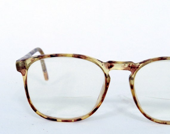 Vintage classic square glasses eyeglasses Light brown by ...