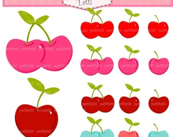 ON SALE cherries clipart - instant download digital clipart, cherry clipart, fruit clipart