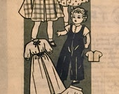"Vintage Doll Pattern Anne Adams 4600 Wardrobe for 14"" Dolls 1950's"