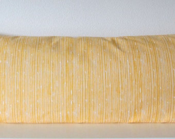 Corn yellow,  scribble, stripes, decorative lumbar, throw or pillow cover