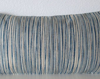 Pillow Cover - Laurel Bay Stripe Cove - Blue -  Taupe - Stripes - Cushion Cover - Decorative Cover