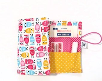 First Aid Kit - Sweet Urban Owl - emergency kit first aid pouch medicine bag