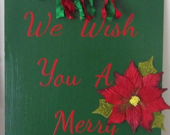 We Wish You A Merry Christmas Hanging Clipboard Decoration