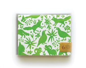 Otomi Letterpress Cards, set of 6