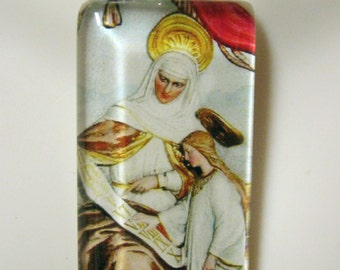 Saint Anne with Mary pendant with chain - GP01-097