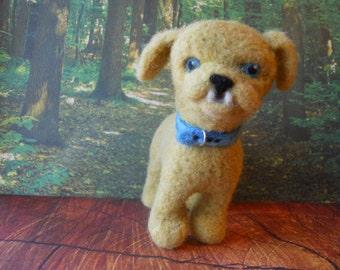 Dog Puppy Needle Felted Gold Puppy Dog