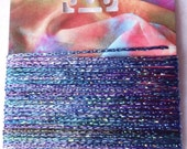 Hand Dyed Slinky Chainette Trim Monet on my Mind