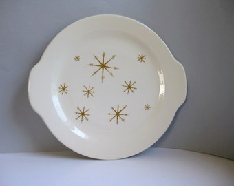 Vintage Starglow serving dish Starglow platter Midcentury star pattern Royal China