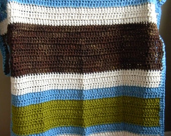 Super big 2 person blanket - Wool - Earth Tones - Ready to ship