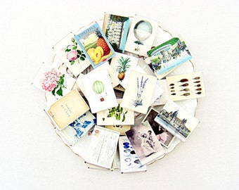 Wedding confetti favor boxes, set of 10, vintage style, 25 designs, pineapple, lavender, romantic