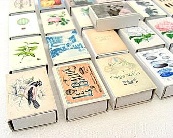 Wedding confetti favor boxes, set of ten, vintage style, pineapple, flowers, romantic, couple, retro