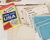 vintage usa flash cards by rand mcnally