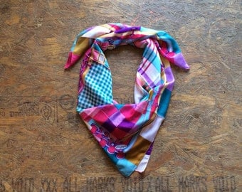 Buy 1 + Get 1 FREE = Multi Decor Scarf, Pink Purple Blue Scarf, Light Weight, 100% Cotton Scarves, Gift Ideas for Her Women, Accessories M