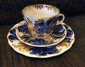 Soviet Vintage LOMONOSOV  Coffee set trio  Golden Garden  22K gold  USSR on sale