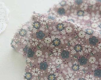 FINE, Lovely petite floral on PaleBrown Assa, U248