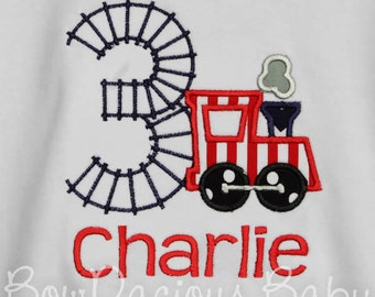 Train Birthday Shirt, Boys Train Birthday Shirt, Girls Train Birthday Shirt, Custom Train Birthday Shirt, Personalized Train Birthday Shirt