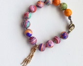 Colorful Jasper with Rose Chain